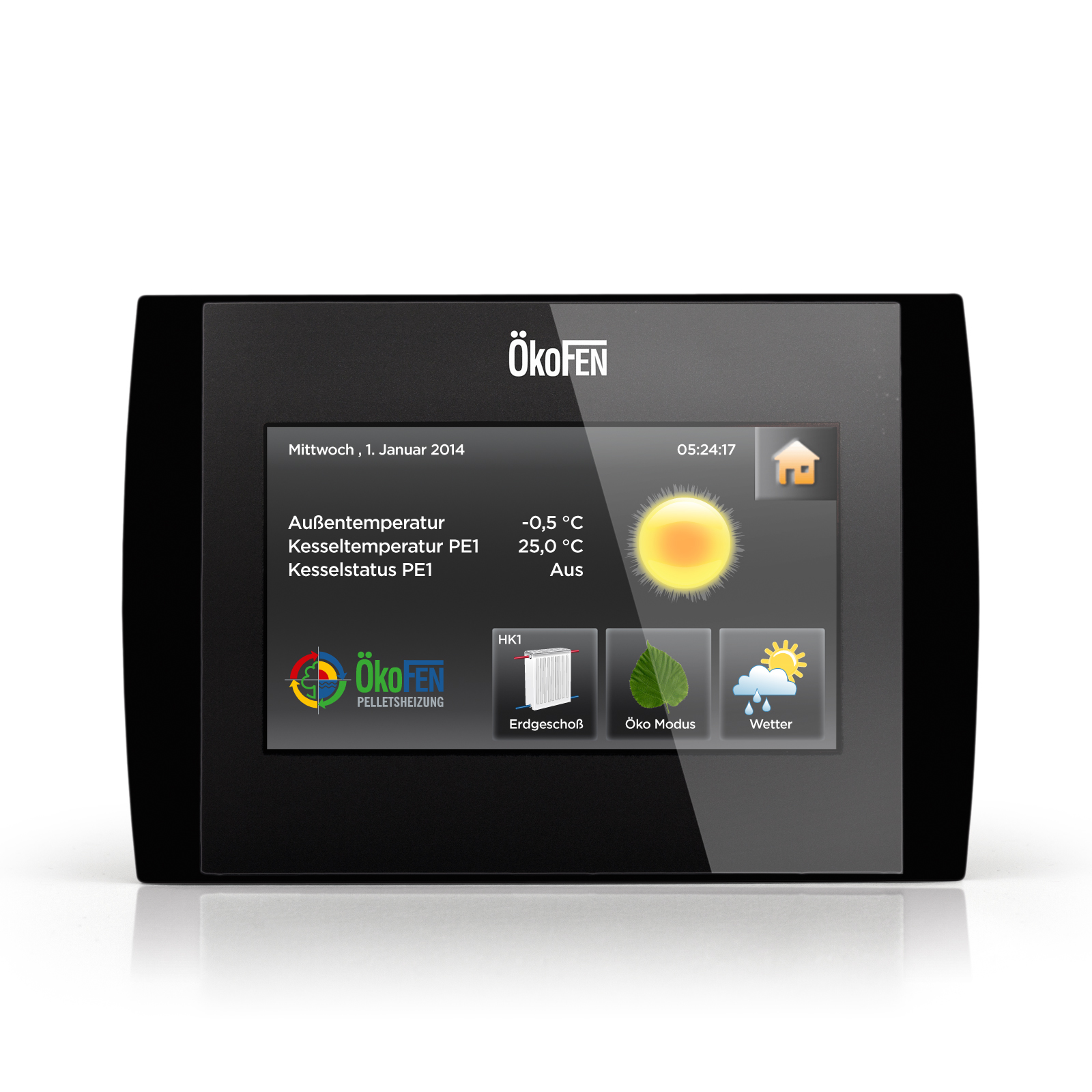 OkeFEN touch control screen